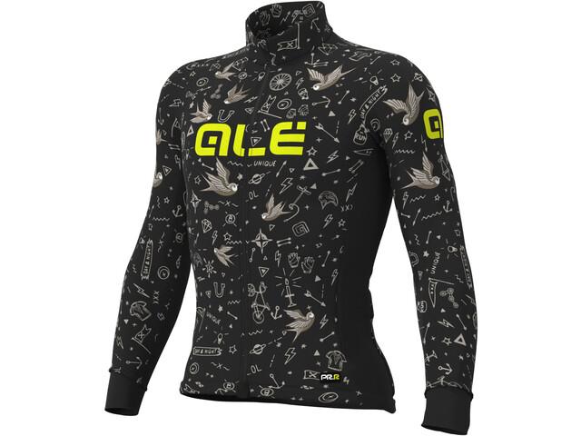 Alé Cycling Graphics PRR Versilia Winter Maglia Jersey A Maniche Lunghe Uomo, black